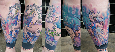 horse carousel tattoo shelly dax