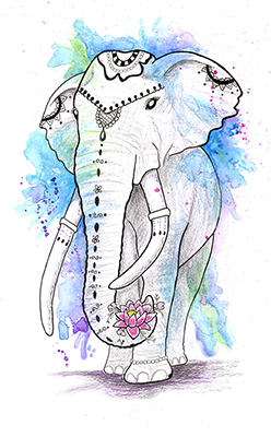 elephant walking drawing shelly dax