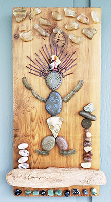 goddess pebble art shelly dax