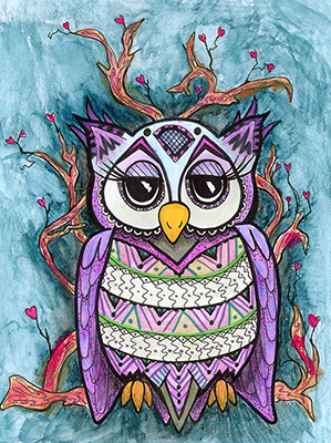 owl drawing shelly dax