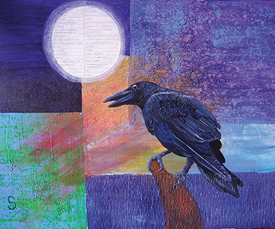 crow moon painting shelly dax