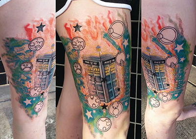 tardis tattoo shelly dax