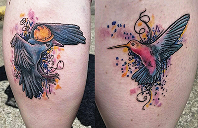 hummingbirds tattoo shelly dax